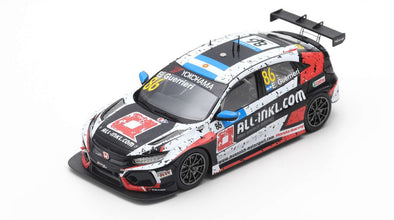 Spark 1/43 HONDA CIVIC TYPE R TCR NO.86 ALL-INKL.COM MÜNNICH MOTORSPORT WINNER RACE 1 WTCR 2019 MARRAKESH ESTEBAN GUERRIERI #S8954