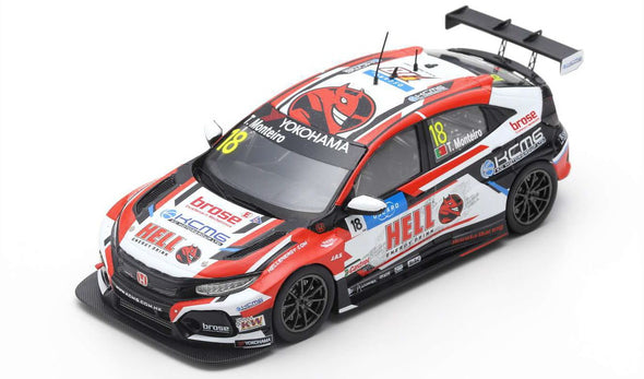 Spark 1/43 HONDA CIVIC TYPE R TCR NO.18 KCMG WINNER RACE 3 WTCR 2019 VILA REAL TIAGO MONTEIRO #S8957