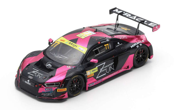 Spark 1/43 AUDI R8 LMS NO.77 ZUN MOTORSPORT CREW FIA GT WORLD CUP MACAU 2018 ADDERLY FONG - SA171
