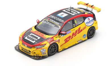 Spark 1/43 HONDA CIVIC TYPE R TCR NO.9 WTCR MACAU GUIA RACE 2018 TOM CORONEL #SA181