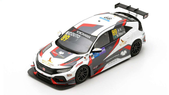 Spark 1/43 HONDA CIVIC TYPE R TCR NO.89 MACPRO RACING TEAM WTCR MACAU GUIA RACE 2018 ANDRÉ COUTO #SA184