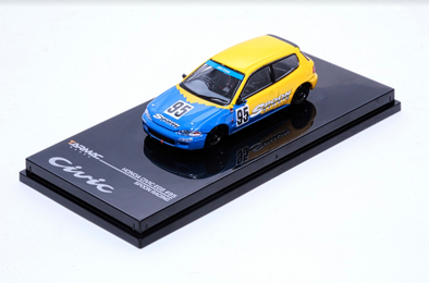 """LIMITED 2 PER PERSON"" Tarmac Works Hobby64 Honda Civic EG6 Gr.A Racing Spoon Racing #95 - Wave 1 - T12-SP"
