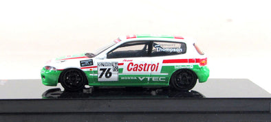 """LIMITED 2 PER PERSON"" Tarmac Works Hobby64 Honda Civic EG6 Gr.A Racing Castrol #76 - Wave 4 - T12-CA"