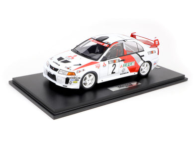 Tarmac Works 1/18 Mitsubishi Lancer Evolution V Champion's Meeting 1998 Richard Burns - T18-003-RB