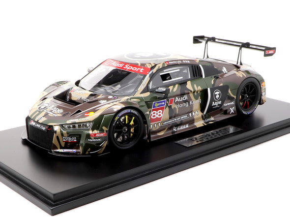 Tarmac Works 1/18 Audi R8 LMS Cup 2016 Taiwan Round AAPE by A Bathing Ape Marchy Lee -T18-004-CUP16GRN