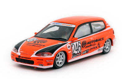Tarmac Works Hobby64 Honda Civic EG6 Motegi Civic Race 2010 - T64-001-AB