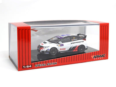 *Limited 2 PER PERSON - Tarmac Works Hobby64 Honda Civic Type R TCR Livery - Macau Guia 2.0T Winner (Special Edition) - T64-003-TF