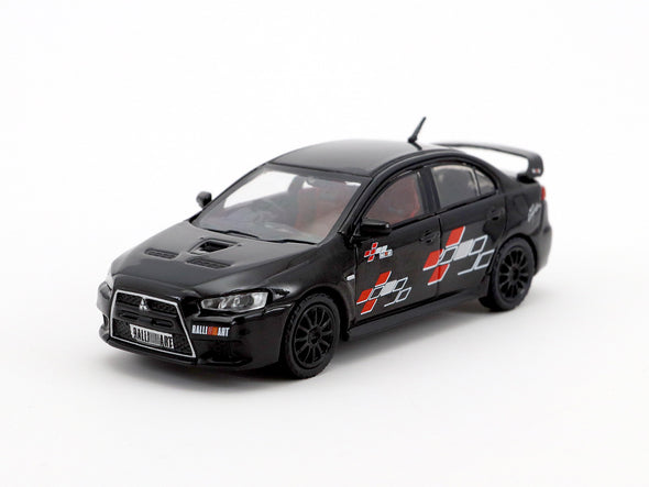 Tarmac Works Hobby64 Mitsubishi Lancer Evolution X Ralliart Edition/ Black - T64-004-REB