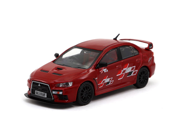 Tarmac Works 1/64 Mitsubishi Lancer Evolution X Ralliart Edition/ RED - T64-004-RER