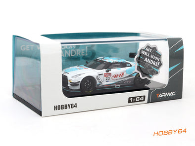 *Limited 2 PER PERSON - Tarmac Works Hobby64 Nissan GT-R R35 China GT 2017 #23 Andre Couto (Charity Model) - T64-005-Couto