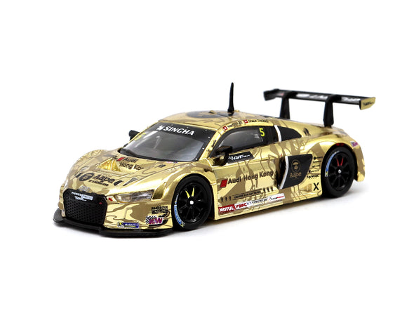Tarmac Works HOBBY64 Audi R8 LMS GT Asia 2016 Overall 2nd Place AAPE BY A BATHING APE Marchy Lee / Shaun Thong - T64-007-GTA16