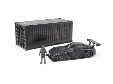 Tarmac Works HOBBY64 Mercedes-AMG GT3 4A Like Black No. 3 (Black) with Container - T64-008-4A3B