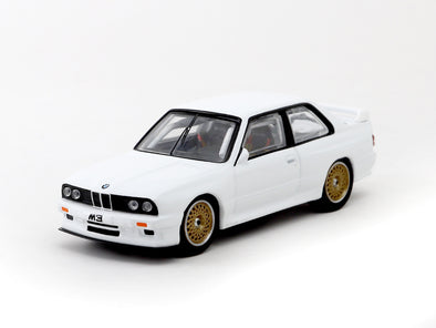 *Limited 3 PER PERSON* Tarmac Works Hobby64 BMW M3 E30 Plain White (Tarmac Works Open Day Event Model) - T64-009-PW