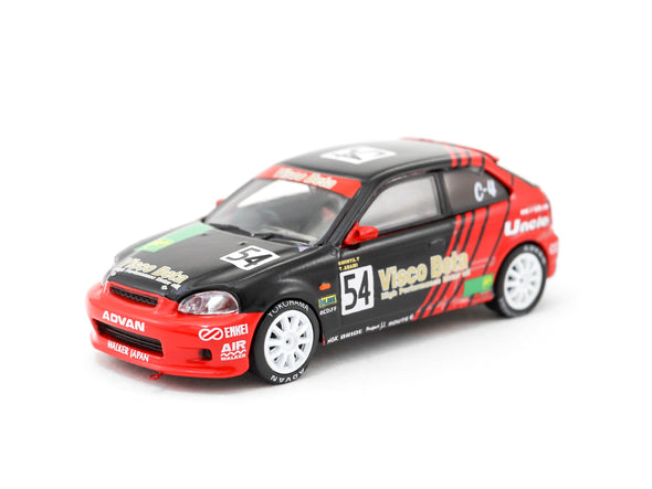 Tarmac Works HOBBY64 Honda Civic Type R EK9 Super Taikyu Series ADVAN Livery T64-010-ADV