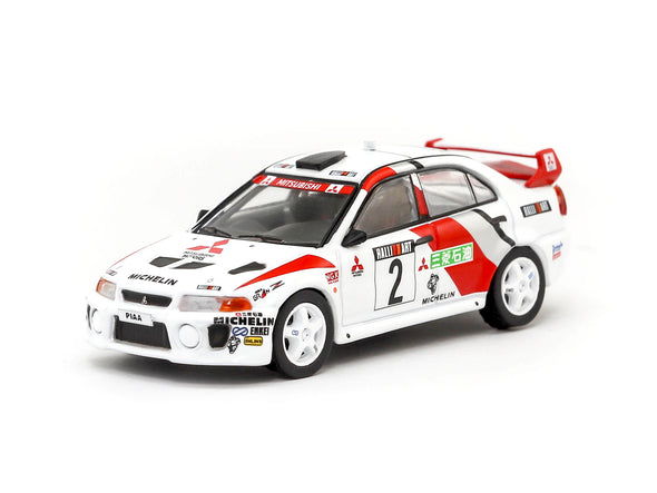 Tarmac Works Hobby64 Mitsubishi Lancer Evolution V Champion's Meeting 1998 Richard Burns - T64-012-RAL