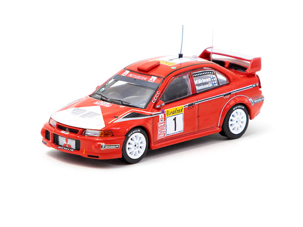 Tarmac Works Hobby64 Mitsubishi Lancer Evolution VI Monte Carlo Rally 2000 Winner - T64-021-MAR