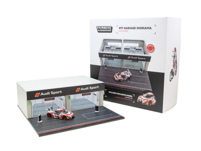 Tarmac Works Accessories 1/64 Diorama - Racing Pit Garage Audi Sport - T64D-001-AS