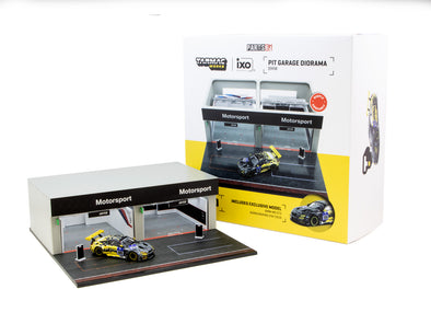 Tarmac Works Accessories 1/64 Diorama - Racing Pit Garage BMW