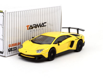 Tarmac Works GLOBAL64 Lamborghini Aventador LP750-4 SV Giallo Orion - T64G-002-GO