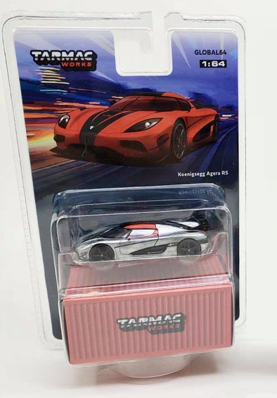 """CHASE CAR"" - Tarmac Works Global64 Koenigsegg Agera RS Red / Carbon Accent - T64G-005-MJ01"