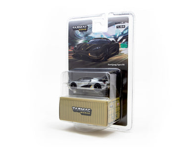 """CHASE CAR"" - Tarmac Works Global64 Koenigsegg Agera RS Dark Grey / Yellow- T64G-005-MJ02"