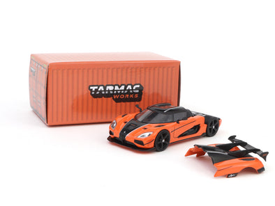 Tarmac Works Global64 Koenigsegg Agera RS Orange / Carbon Accent - T64G-005-OR
