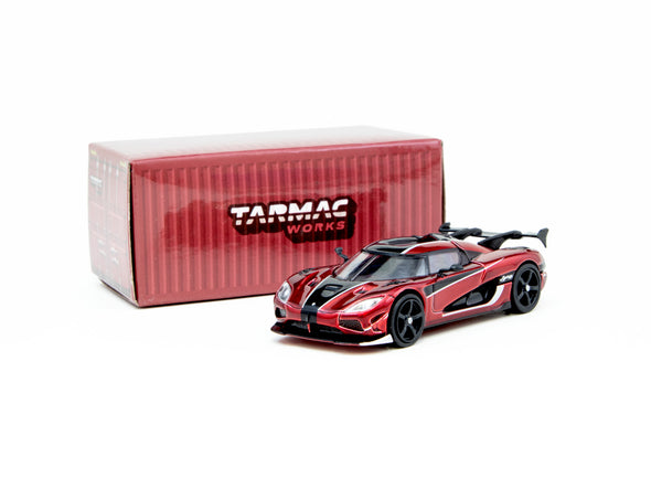 Tarmac Works Global64 Koenigsegg Agera RS - Red / Black- T64G-005-RD