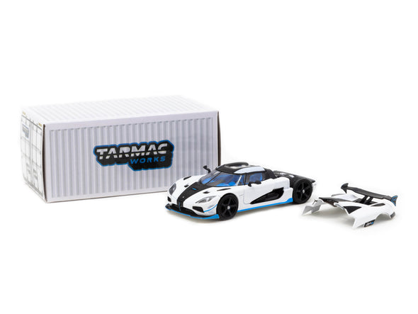 Tarmac Works Global64 Koenigsegg Agera RS - White/ Black / Blue- T64G-005-RS1