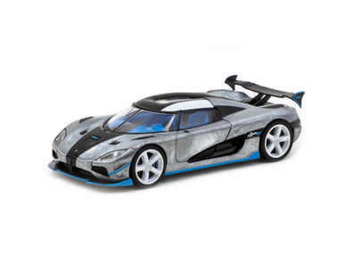 """CHASE CAR""  Tarmac Works Global64 Koenigsegg Agera RS - White/ Black / Blue- T64G-005-RS1"