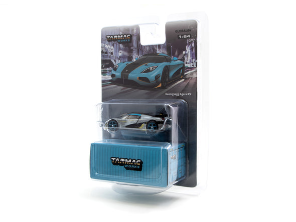"""CHASE CAR"" - Tarmac Works Global64 Koenigsegg Agera RS Blue / Gold- T64G-005-RSR"