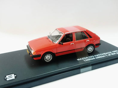 Triple 9 (by Premium X) 1/43 Mazda 323 Hatchback 1982 Red - T9-43056