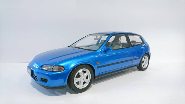 Triple 9 1/18 Resin Series - 1992 Honda Civic VTi EG6 (LHD) - Blue - Made by IXO Premium X - T9R1800101