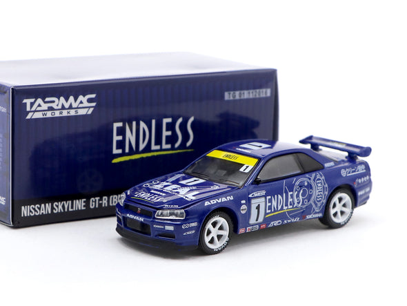 *Limit to THREE per person/address* Tarmac Works x GreenLight 1/64 Nissan Skyline GT-R R34 Endless Special Edition - TG51184