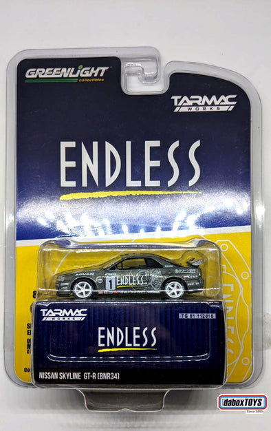 """CHASE CAR"" = Tarmac Works x GreenLight 1/64 Nissan Skyline GT-R R34 Endless Special Edition - #51184"
