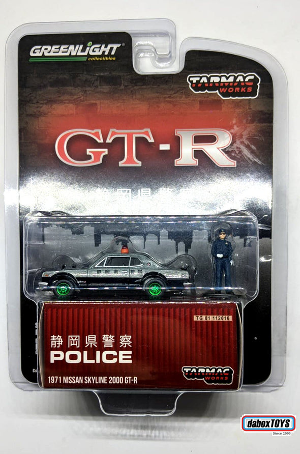 """CHASE CAR"" - Tarmac Works x GreenLight 1/64 Japanese Police 1971 Nissan Skyline 2000 GT-R - TG-51240"
