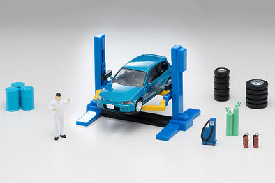 Tomica Limited Vintage Neo 1/64 Tomicarama Vintage 06a Car Lift (Inc. 1/64 Honda Civic SiR-II)