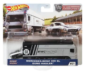 Hot Wheels 2020 TEAM TRANSPORT Case H - MERCEDES-BENZ 300 SL IWC EURO HAULER #21