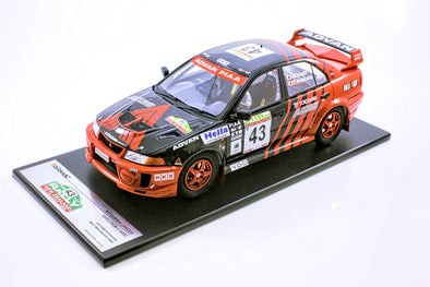 Tarmac Works 1/18 Mitsubishi Lancer Evo V WRC 1999 New Zealand Rally #43 Fumio Nutahara - T03-AD