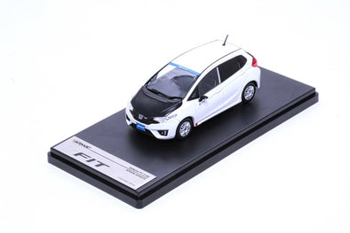 Tarmac Works 1/43 Honda Fit RS (3rd Gen.) Spoon Sports - White with carbon bonnet - T10-WH