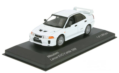 WhiteBox 1/43 MITSUBISHI LANCER EVO V RS 1998 - White  - WB216
