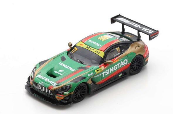 Spark 1/64 MERCEDES-AMG GT3 NO.77 MERCEDES-AMG TEAM CRAFT-BAMBOO RACING 6TH FIA GT WORLD CUP MACAU 2019 EDOARDO MORTARA - Y168
