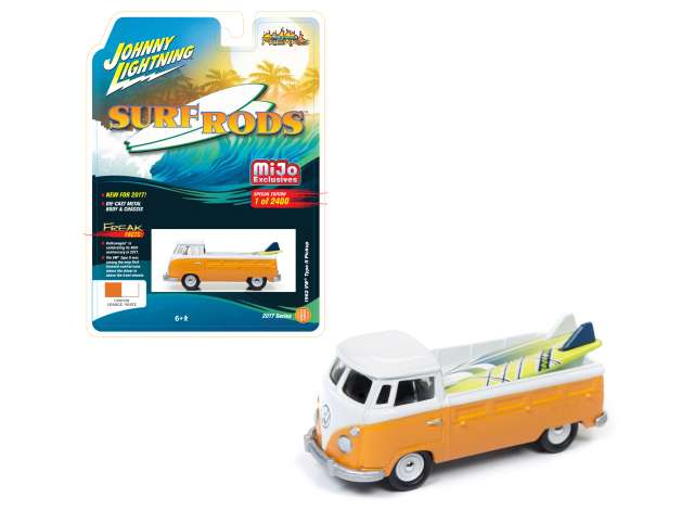 *Limit to ONE per person* Jonny Lighting 1/64 1962 Volkswagen T2 pick-up, orange/white