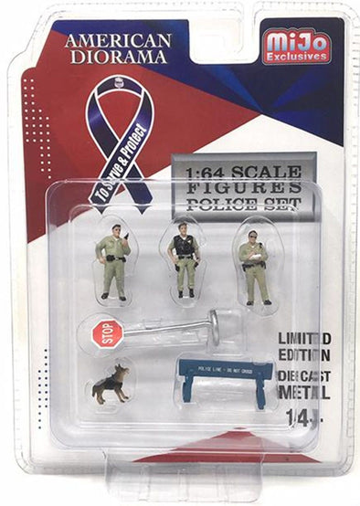 American Diorama 1/64 Mijo Exclusive Figure Sheriff Set - #AD-38403