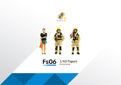 Tiny 1/43 Resin Figure Set 06 Firemen & Office Lady 1/43 樹脂公仔套裝 06 消防員和OL - ATFS43006