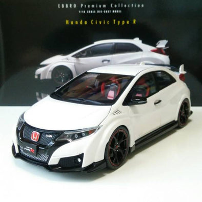 Ebbro 1/18 Honda CIVIC TYPE R 2015 (Japanese License Plate) - Championship White #81066