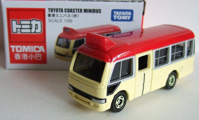 Tomica Special Edition Toyota Coaster Minibus Hong Kong - Red