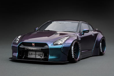 Ignition Models 1/18 LB-WORKS GT-R (R35) Metallic Purple / Green  - IG1033