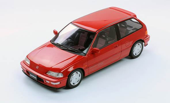 Triple 9 1/18 1990 Honda Civic EF-9 SiR VTEC, Red - T9-1800105