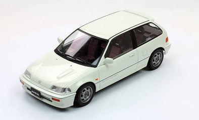 Triple 9 1/18 1987 Honda Civic EF-3 Si, White - T9-1800104