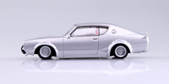 Aoshima 1/64 Grand Champion Collection 10 - LB Works Skyline 2Dr 1972 (C110) Silver LBケンメリ2Dr #2